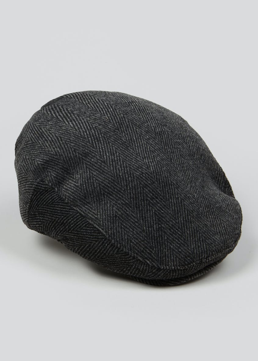 Smart Herringbone Flat Cap