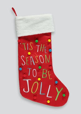 Slogan Christmas Stocking (80cm x 45cm)