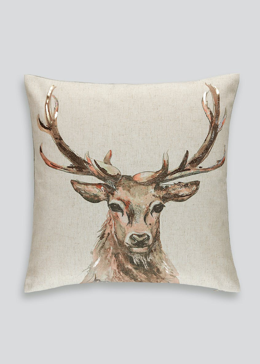 Watercolour Stag Cushion (46cm x 46cm)