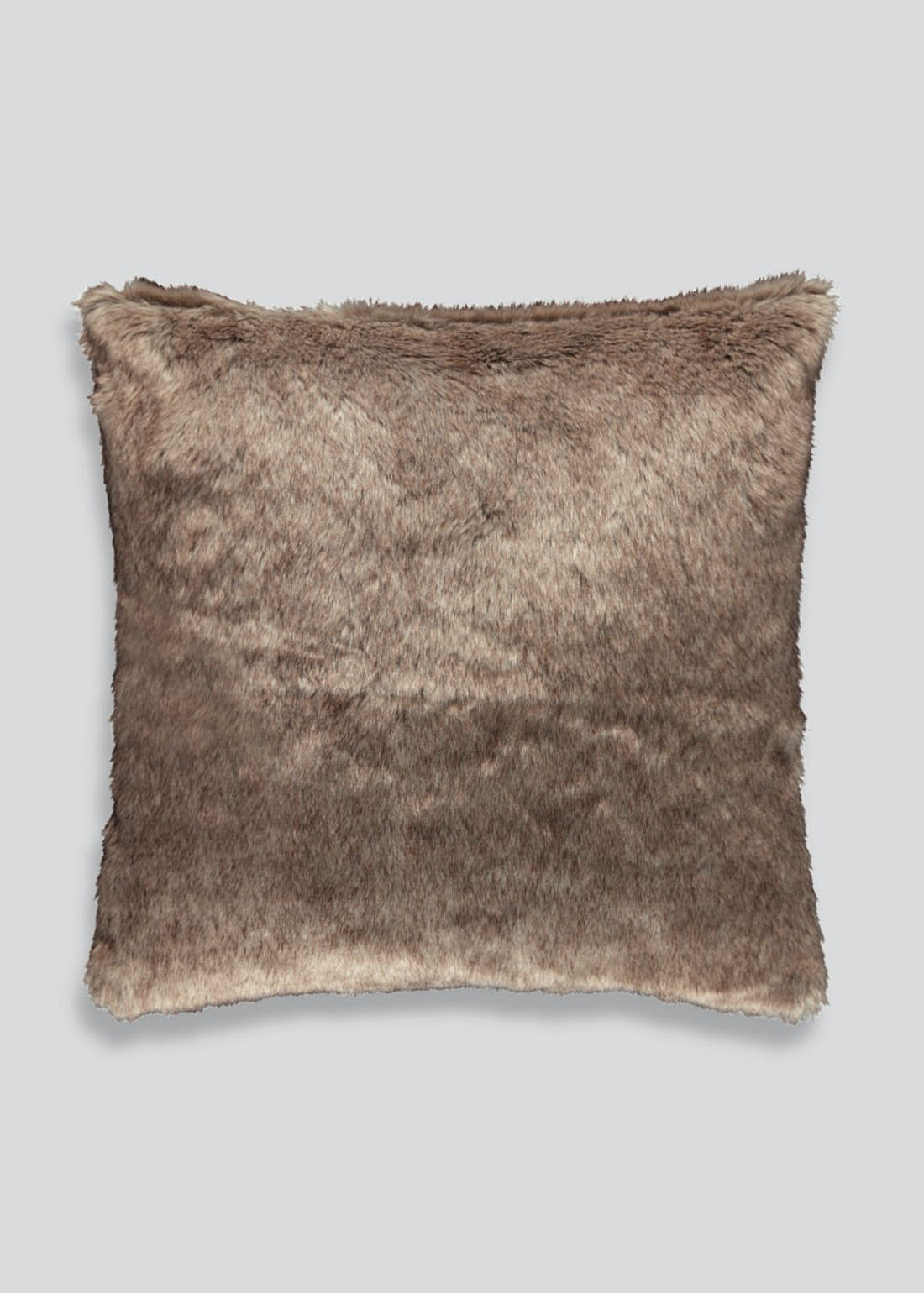 Tartan Faux Fur Cushion (46x46cm)