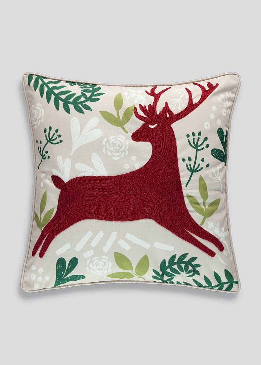 Reindeer Christmas Cushion (46cm X 46cm)