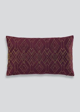 Beaded Velvet Cushion (50cm x 30cm)