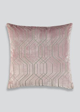 Farhi by Nicole Farhi Geometric Velvet Feather Filled Cushion (48cm X 48cm)