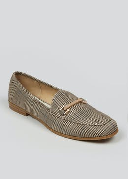 Check Snaffle Loafers
