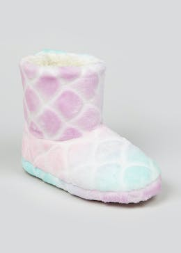Girls Mermaid Slipper Boots (Younger 10-Older 5)