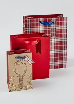 3 Pack Christmas Gift Bags