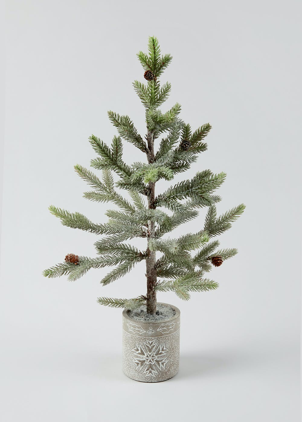 Potted Christmas Tree.Potted Christmas Fir Tree 62cm X 12cm X 12cm