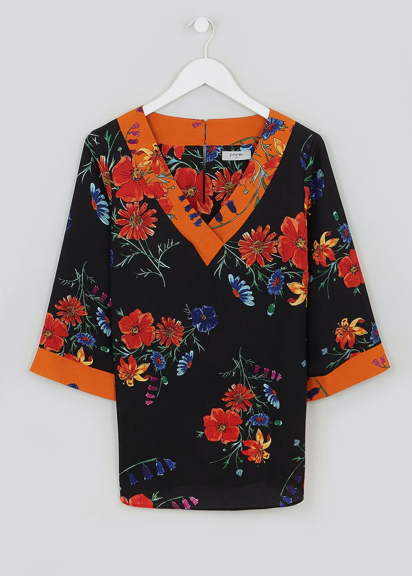 Soon Floral Contrast Blouse