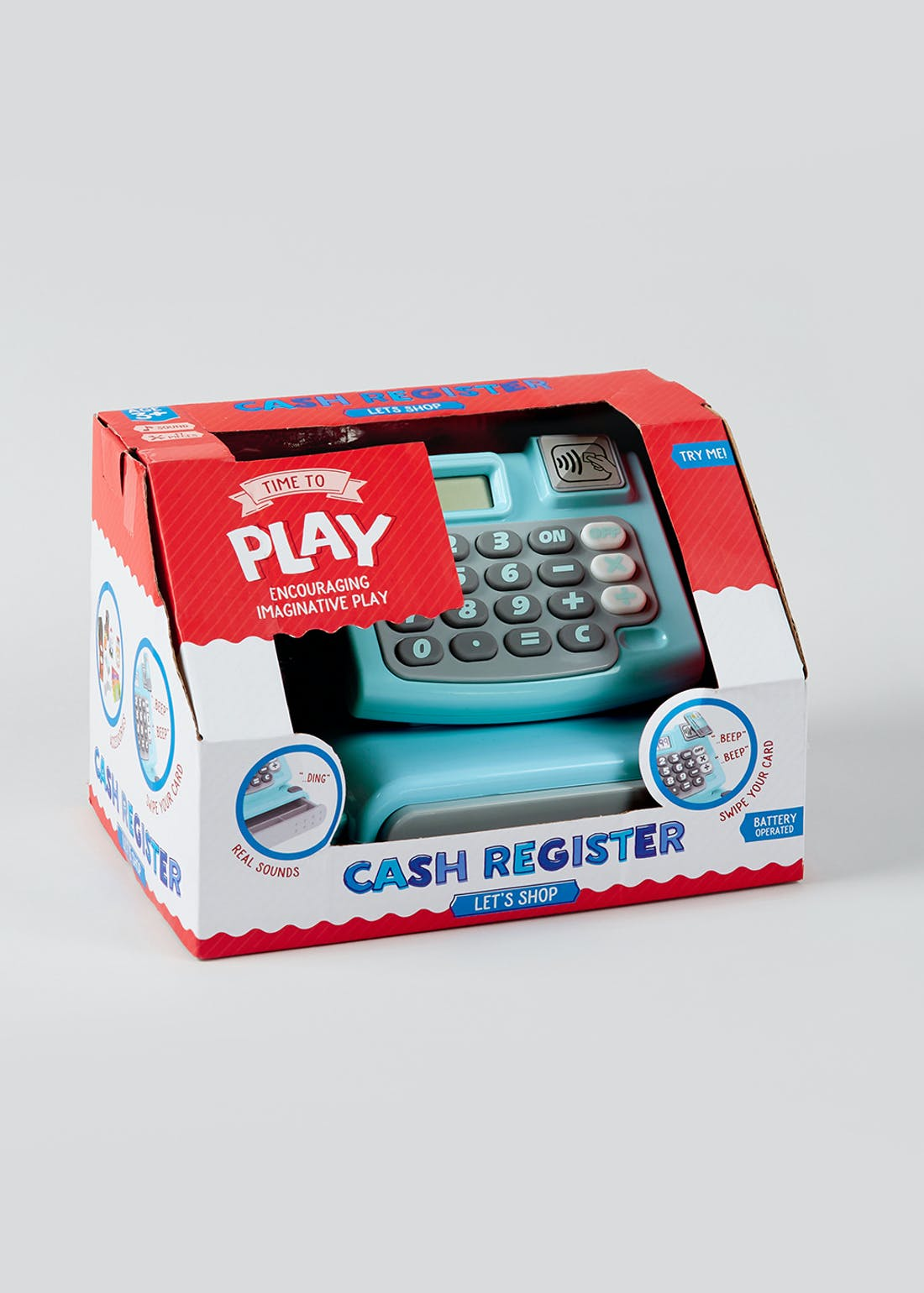 Kids Cash Register Play Set (22cm x 16cm x 13cm)