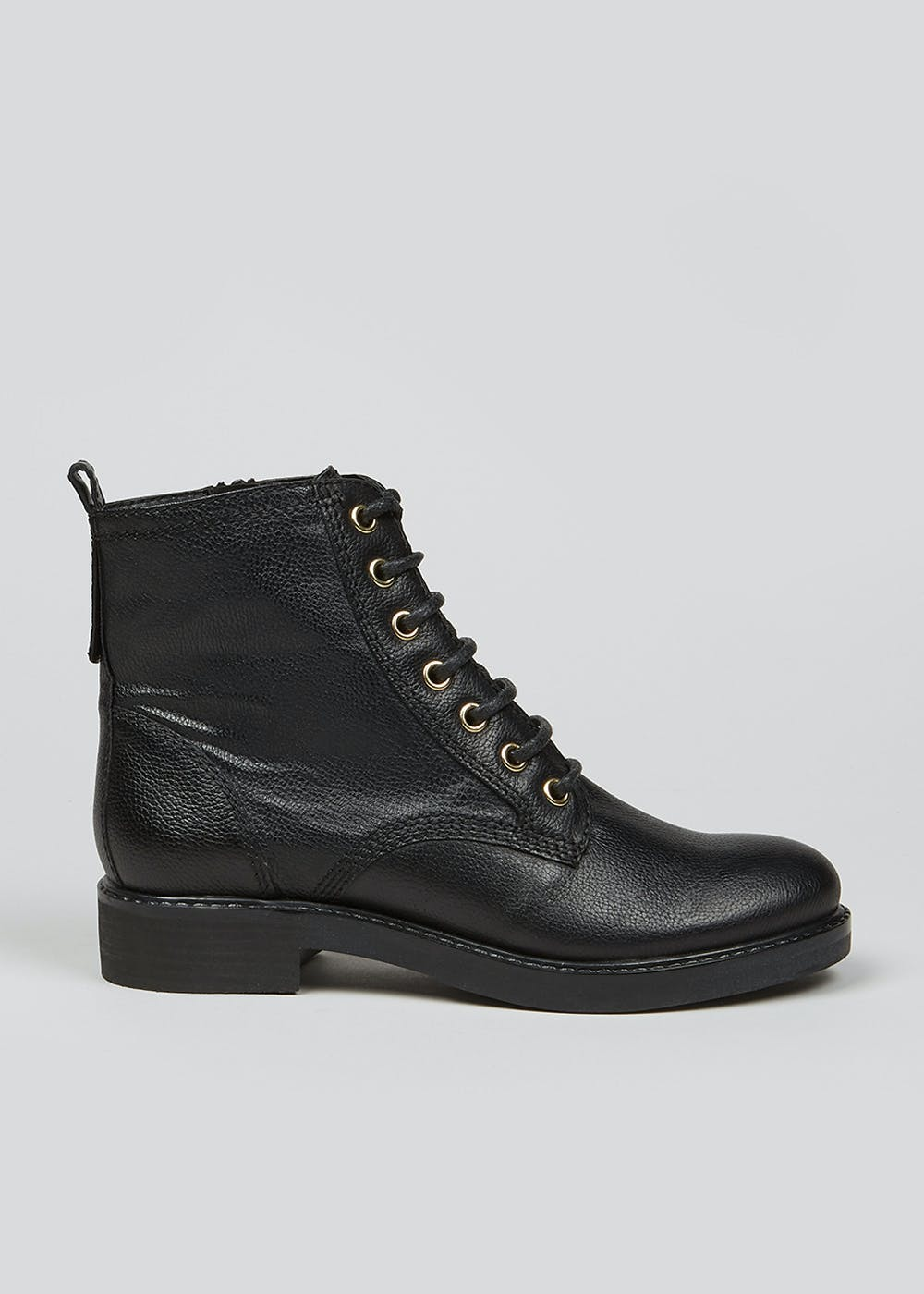Soleflex Real Leather Lace Up Biker