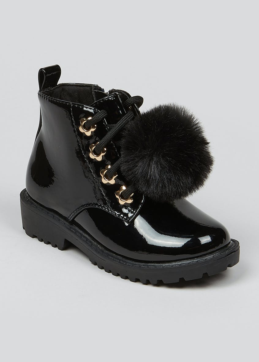 Girls Pom Pom Boots (Younger 4-12)