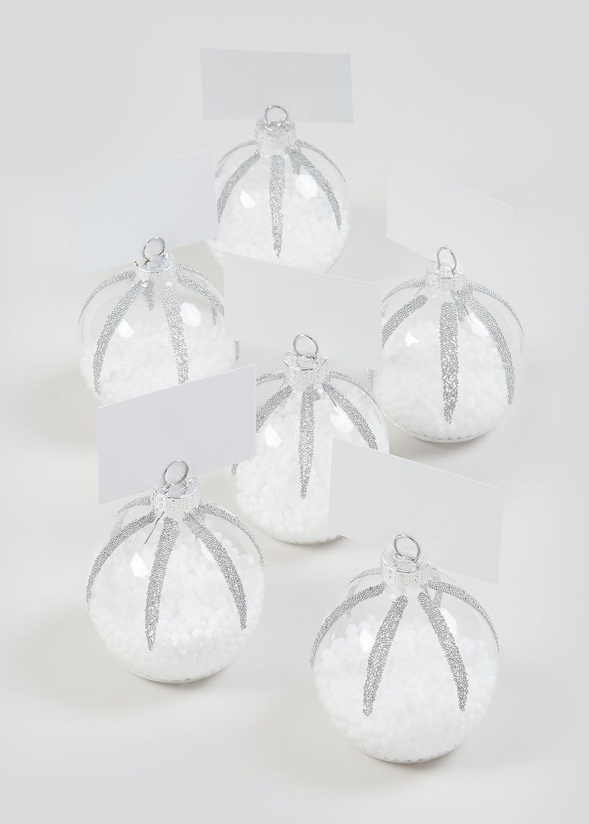 6 Pack Bauble Place Card Holders (6cm)
