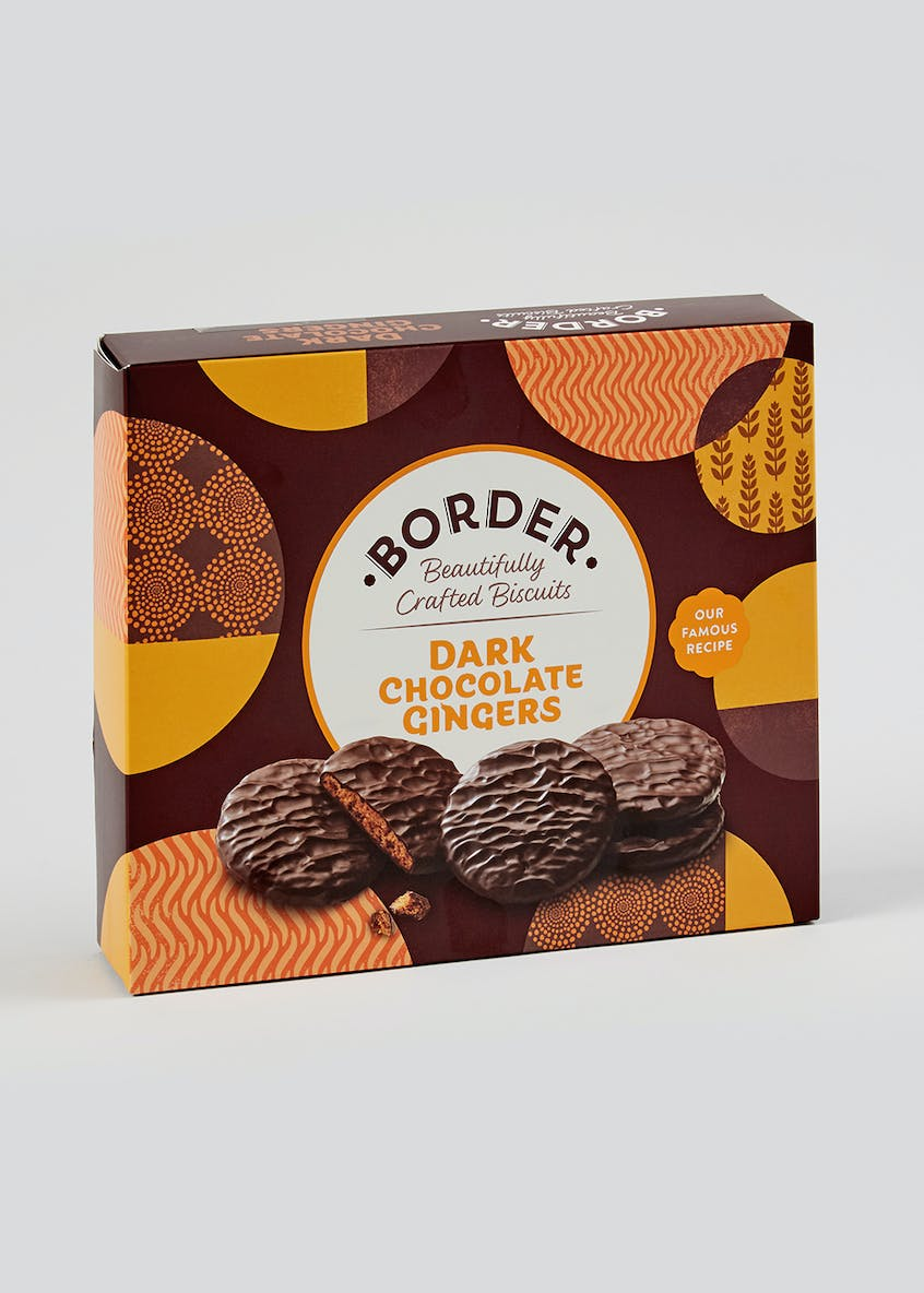 Border Biscuits Dark Chocolate Gingers (19cm x 16cm x 4cm)
