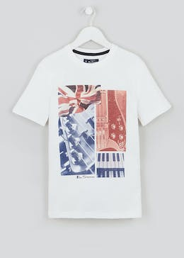 Boys Ben Sherman Guitar Print T-Shirt (3-13yrs)