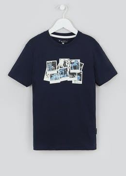Boys Ben Sherman Polaroid Print T-Shirt (3-13yrs)