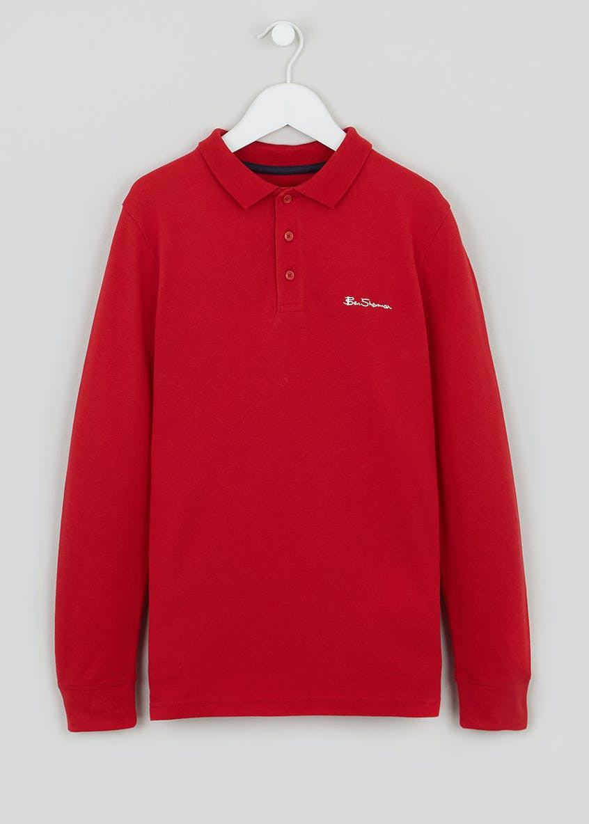 Boys Ben Sherman Long Sleeved Polo Shirt (3-13yrs)