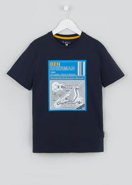 Boys Ben Sherman Mod Print T-Shirt (3-13yrs)