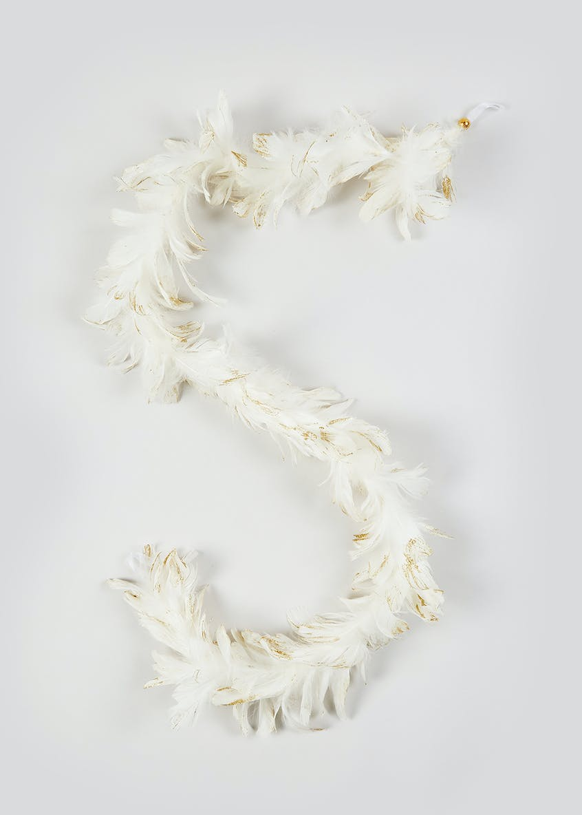 Christmas Feather Garland (1m)