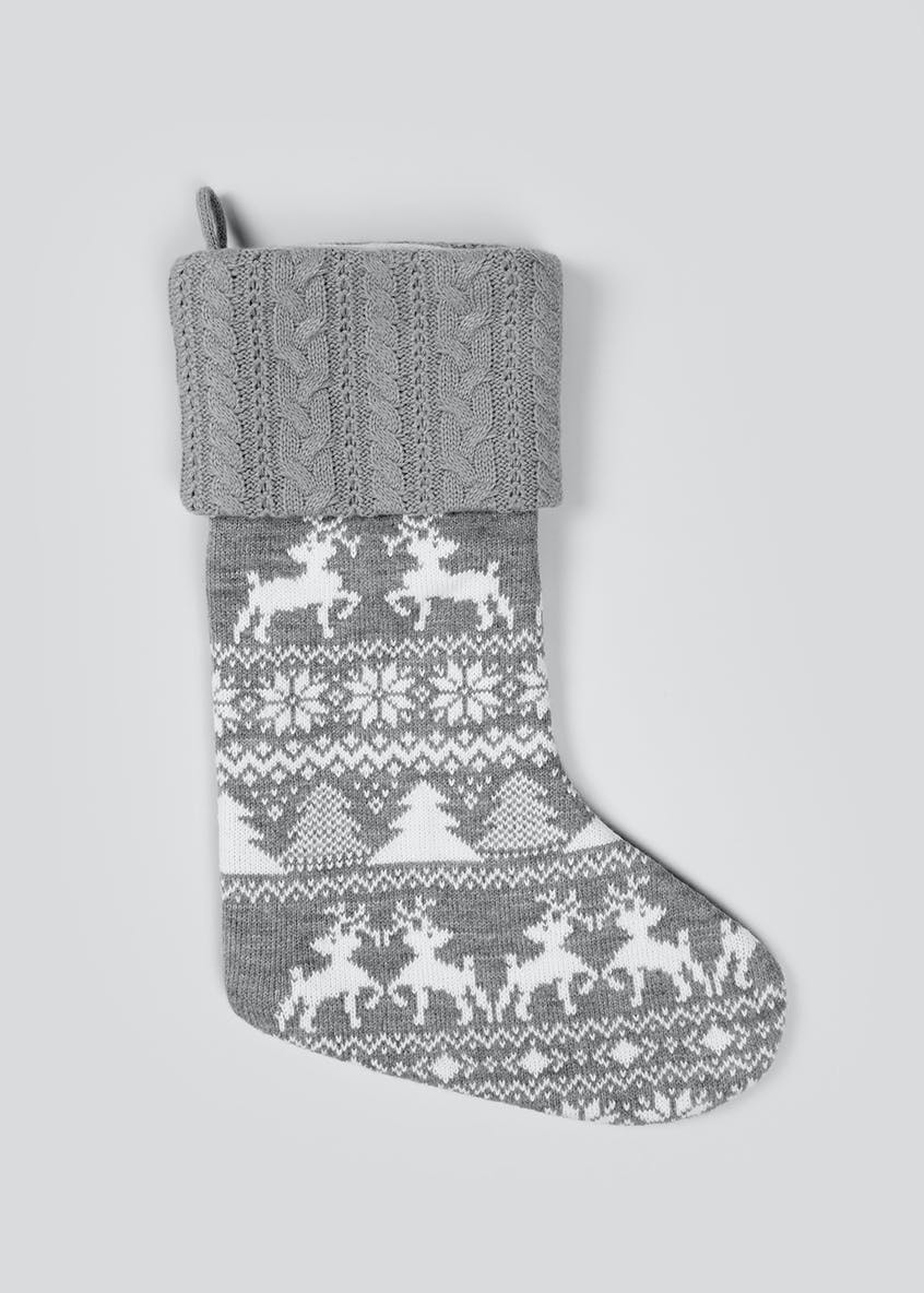 Fairisle Christmas Stocking (51cm x 32cm)