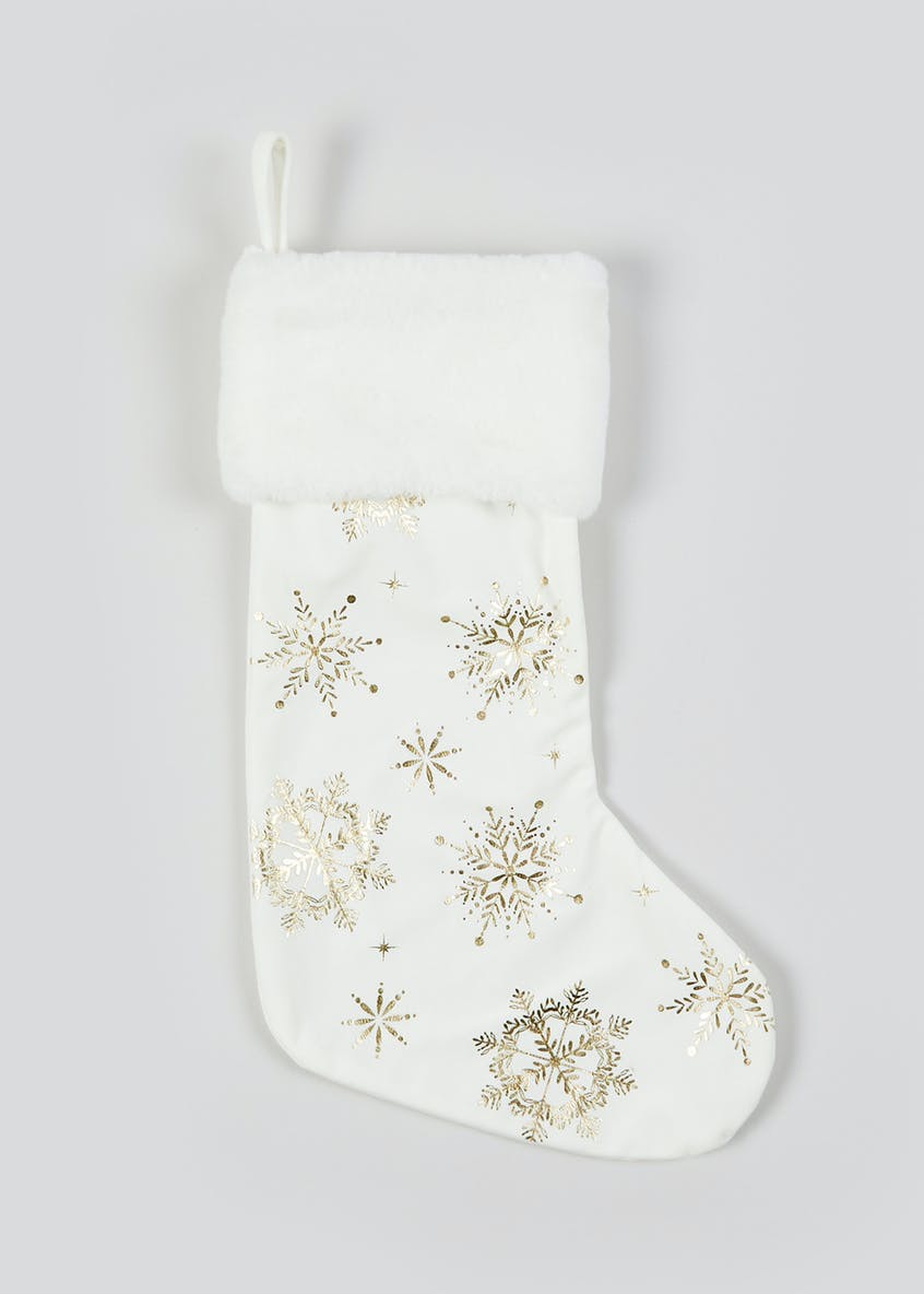 Snowflake Christmas Stocking (32cm x 51cm)