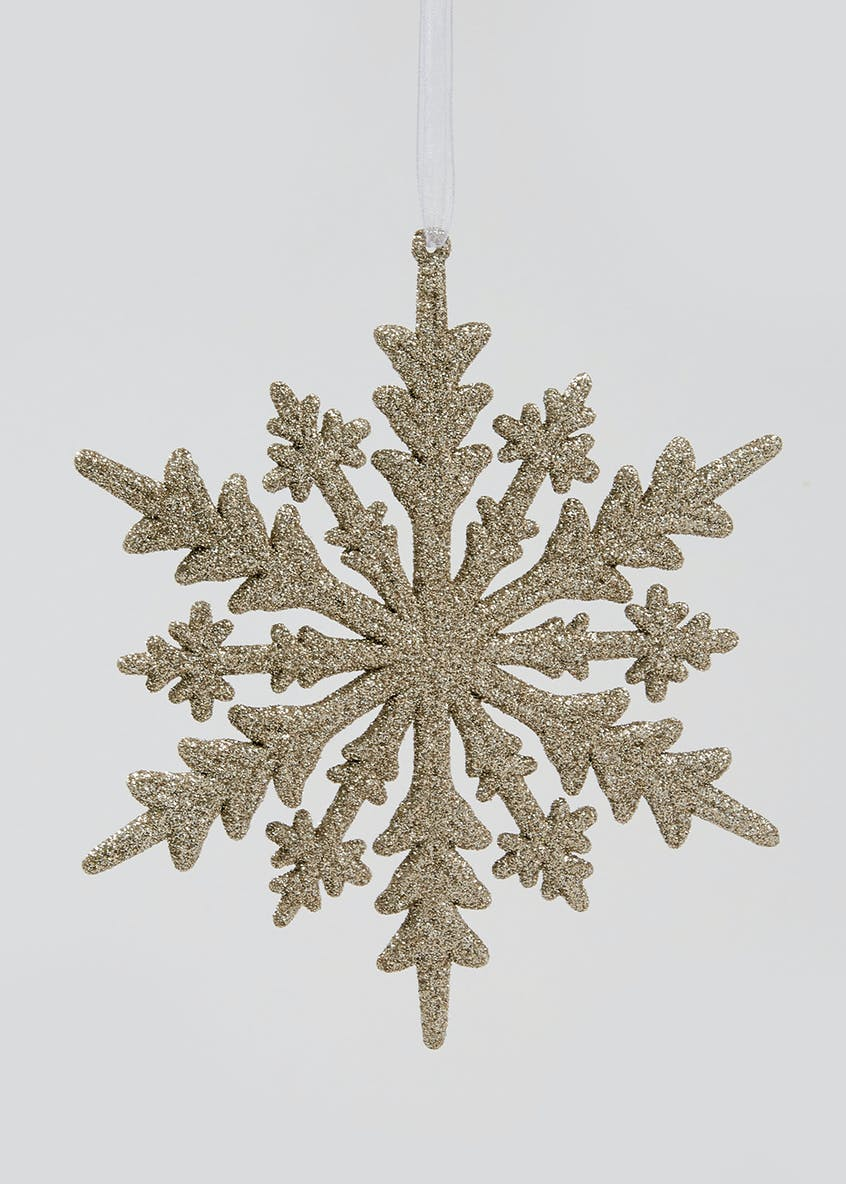 Glitter Snowflake Christmas Tree Decoration (17cm)