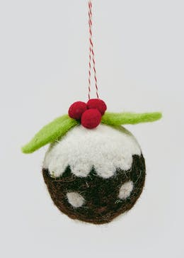 Felt Christmas Pudding Decoration (6cm)