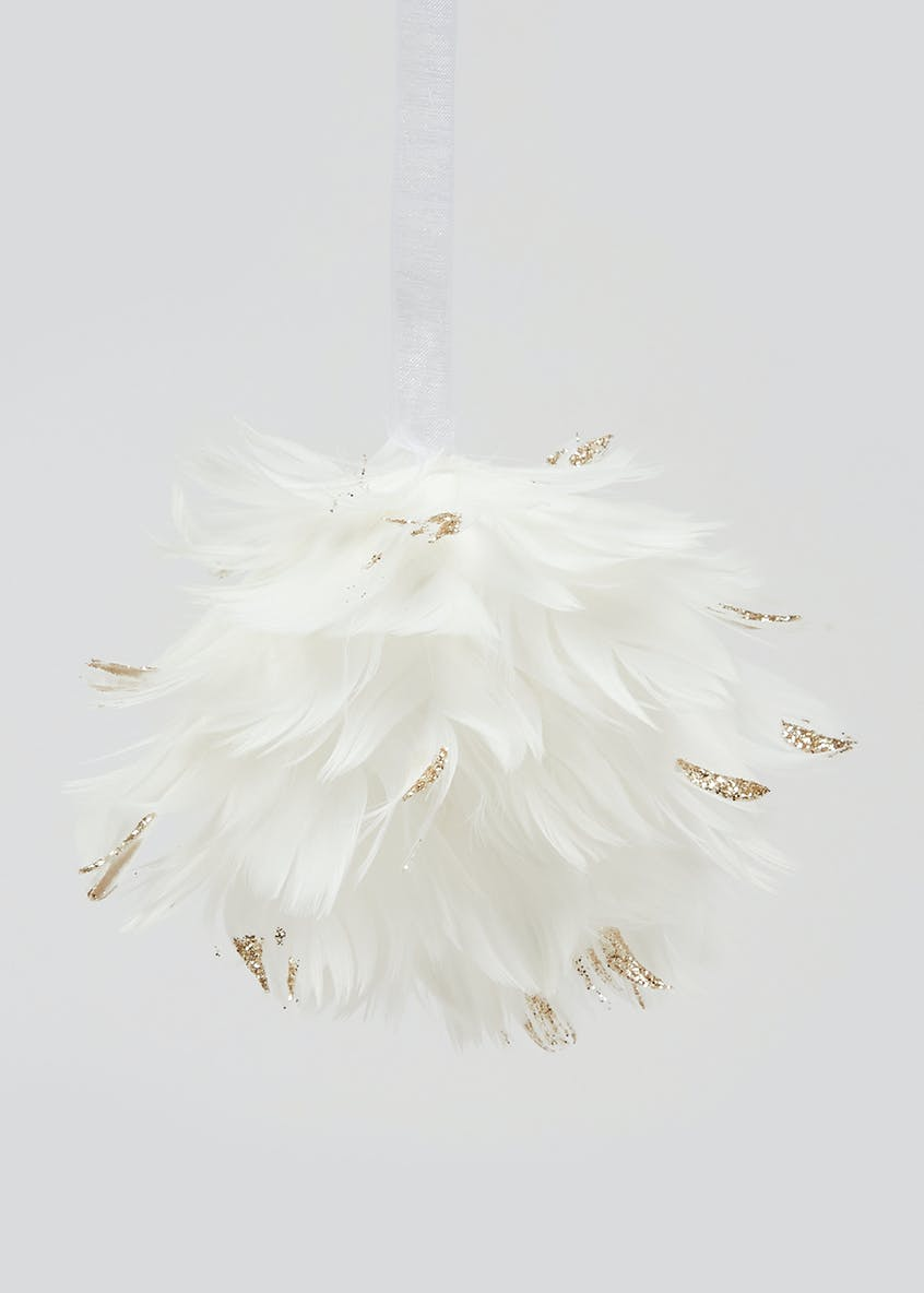 Feather Christmas Bauble (8cm)