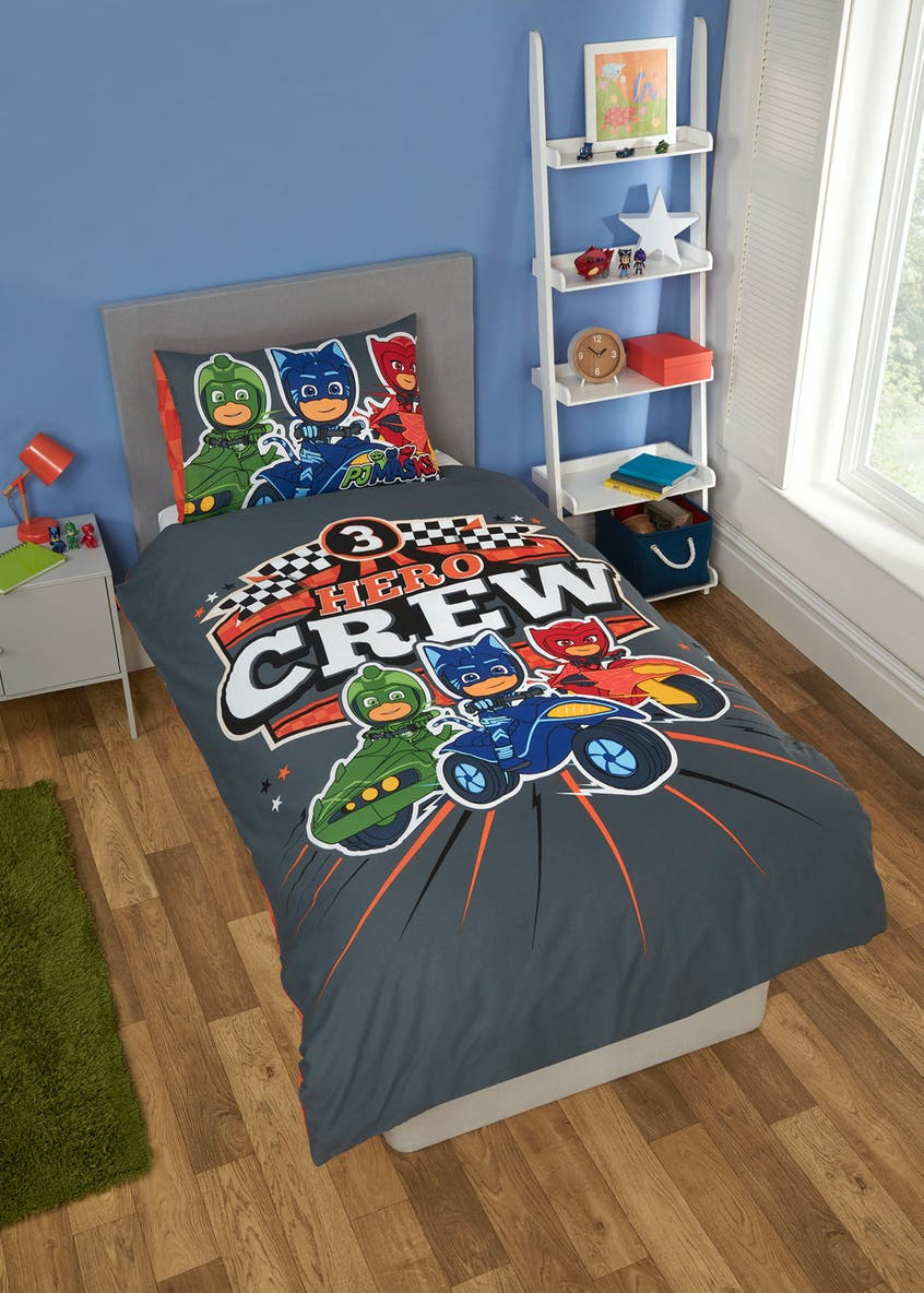 Kids PJ Masks Reversible Duvet Cover (Single)