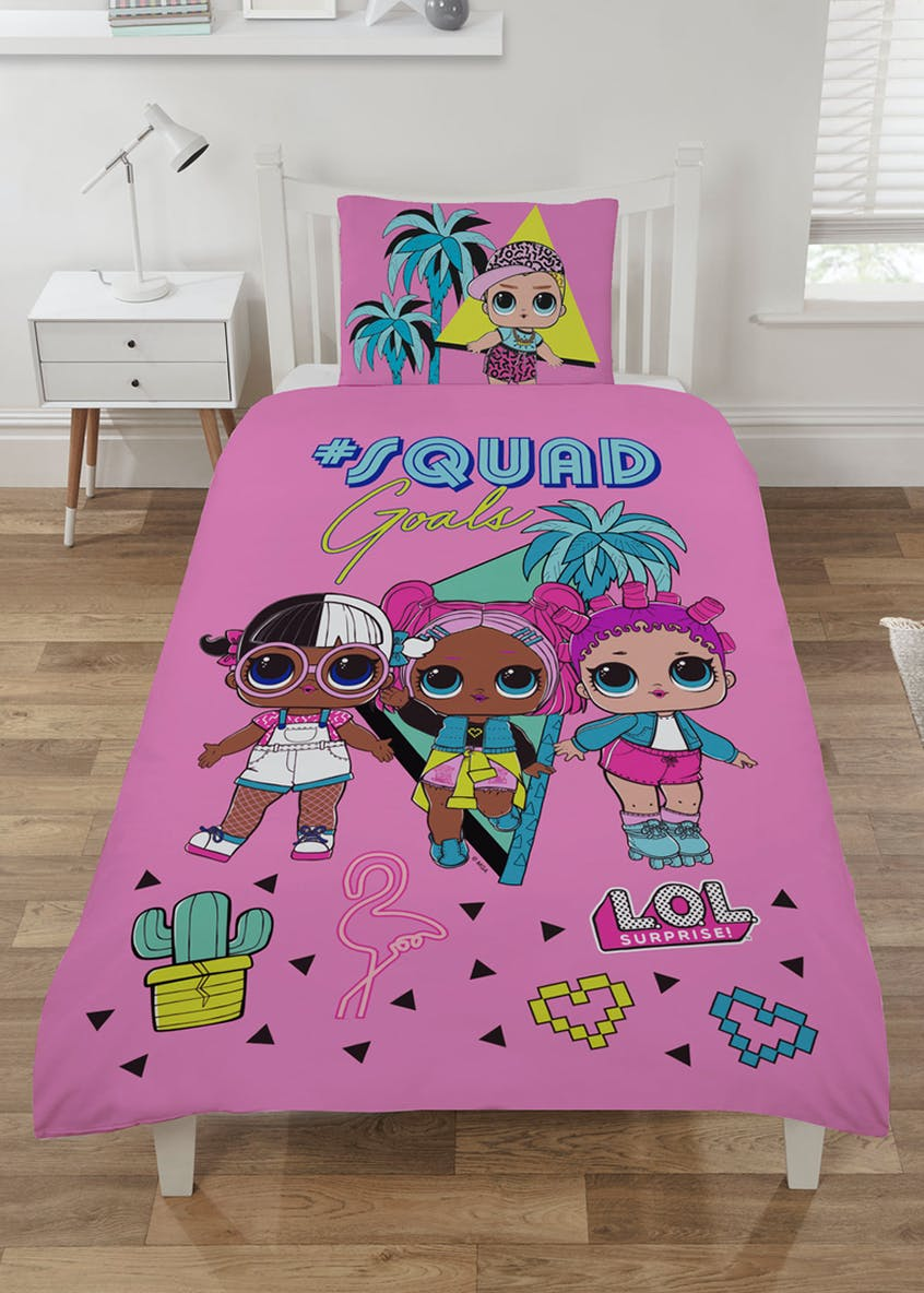Kids Reversible L.O.L. Squad Duvet Cover (Single)
