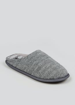 Grey Memory Foam Mule Slippers
