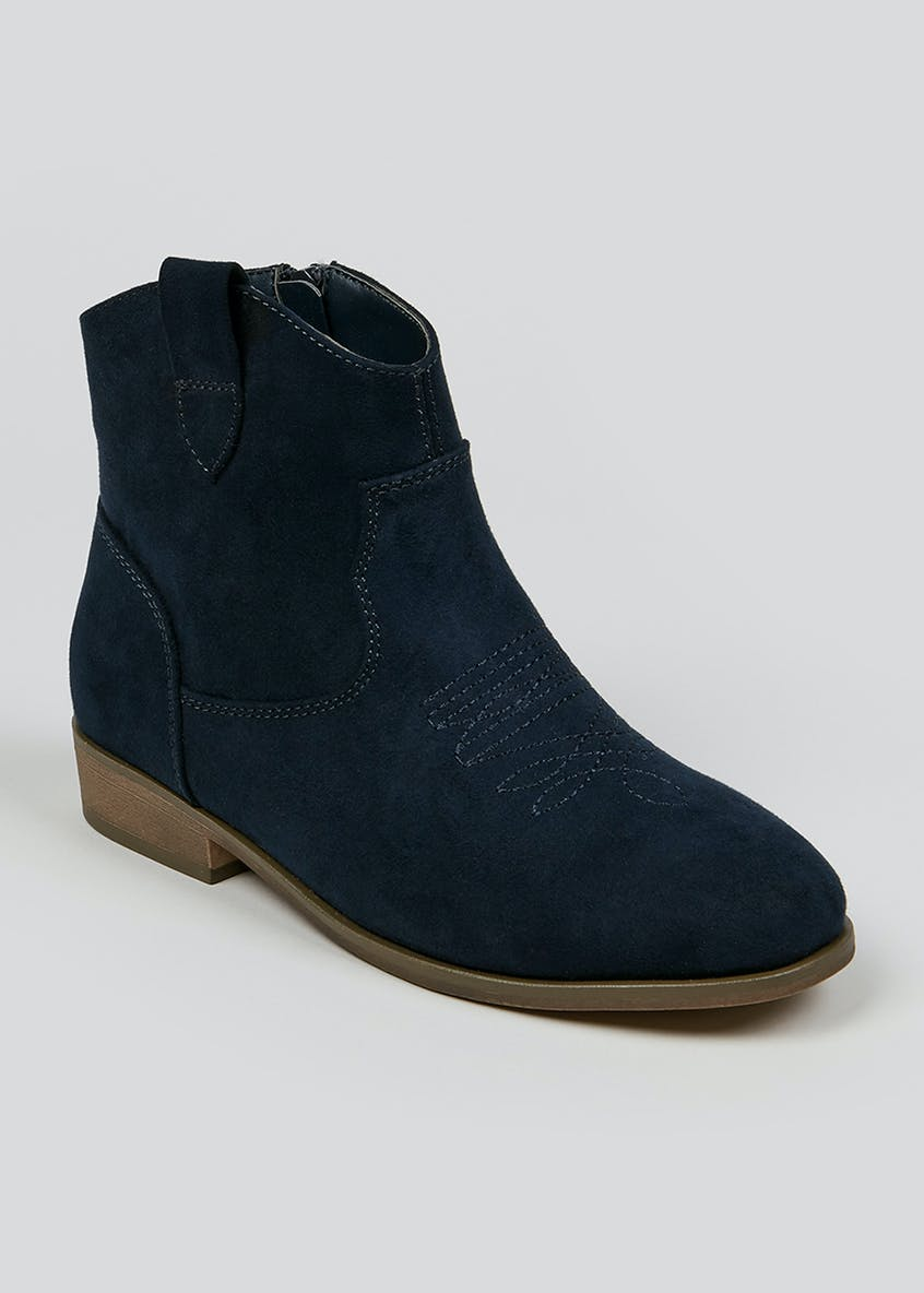 Girls Western Ankle Boots (Younger 10 - Older 5)
