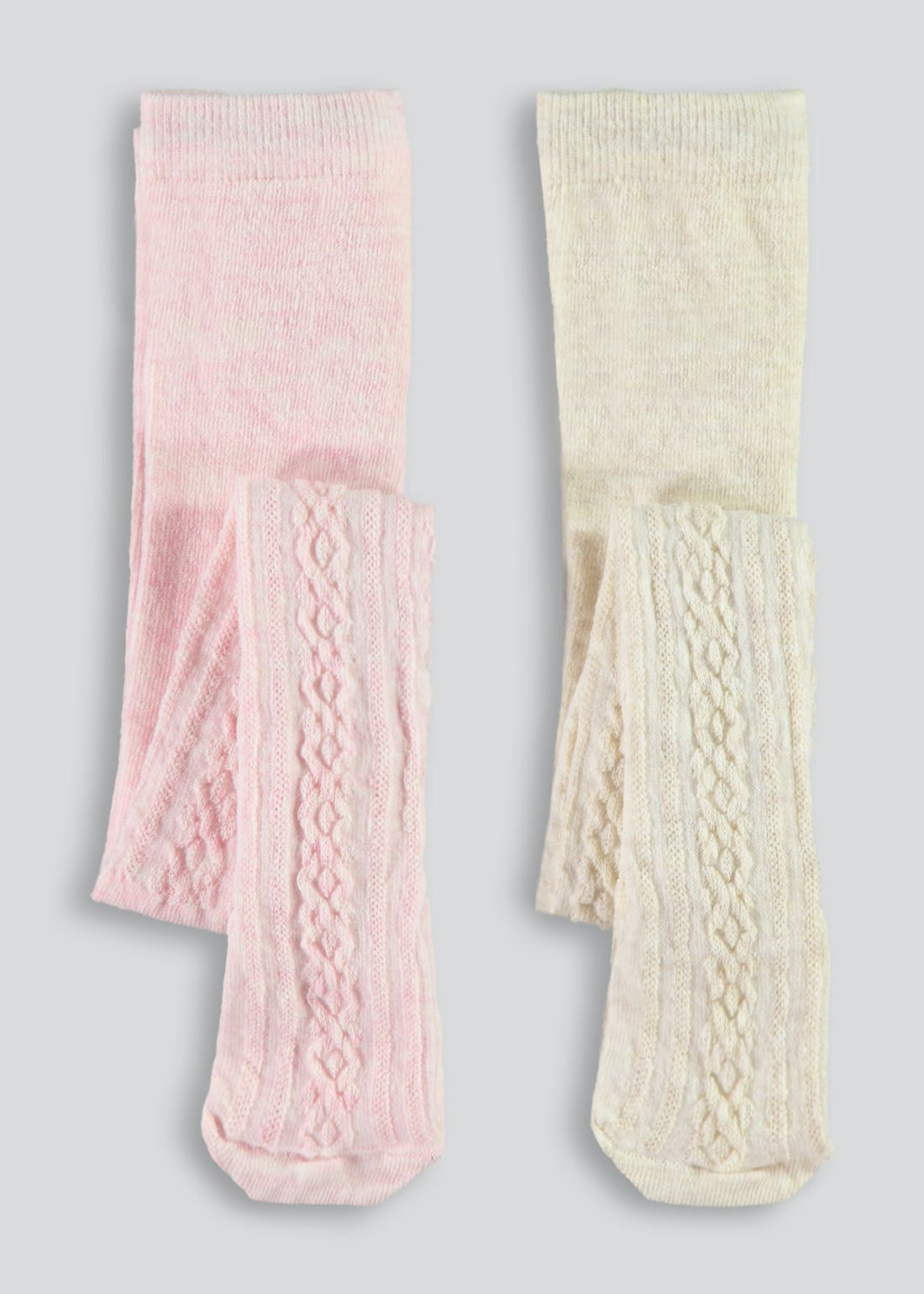 Girls Two Pack Tights (Newborn-3yrs)