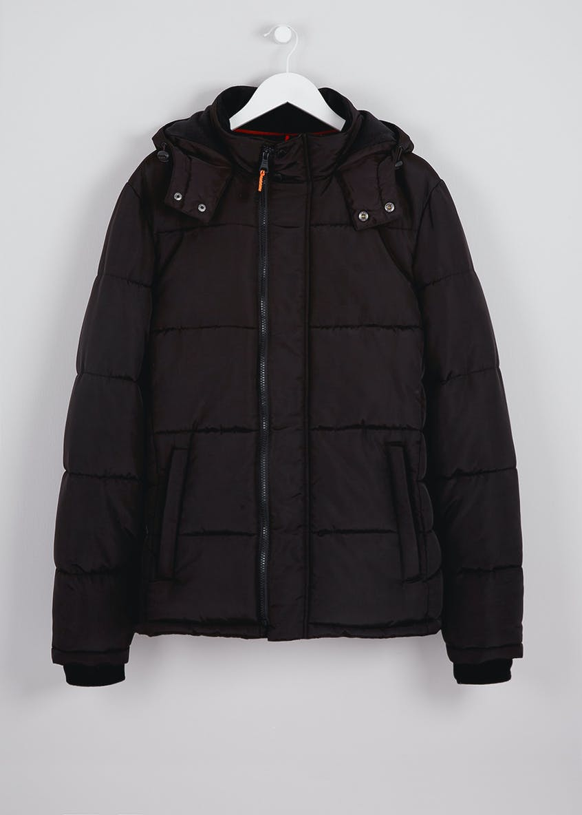 Black Padded Panel Jacket