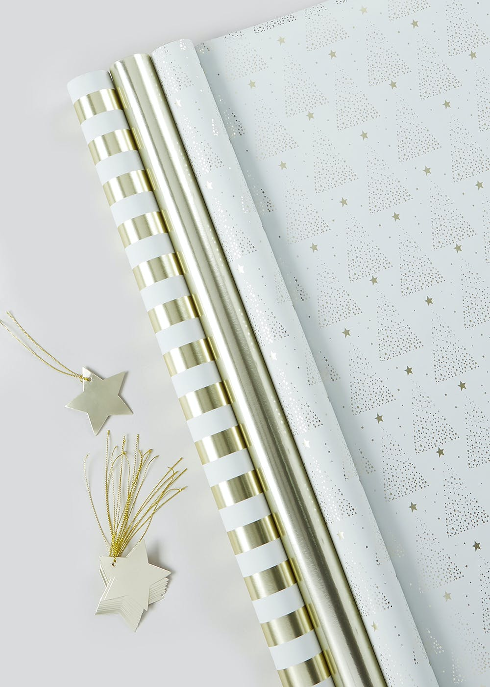 Christmas Wrapping Paper & Gift Tag Set (2m) – Gold