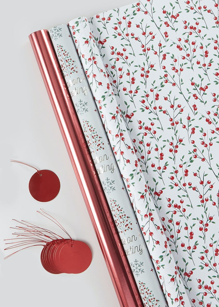 Christmas Wrapping Paper & Gift Tag Set (2m)