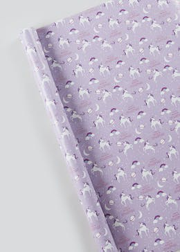 Unicorn Christmas Wrapping Paper (10m)