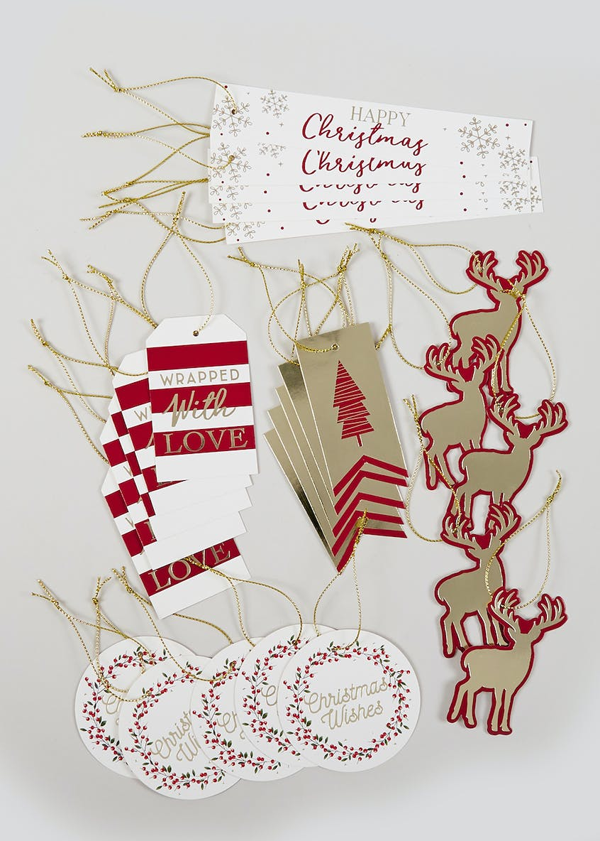 25 Pack Christmas Gift Tags