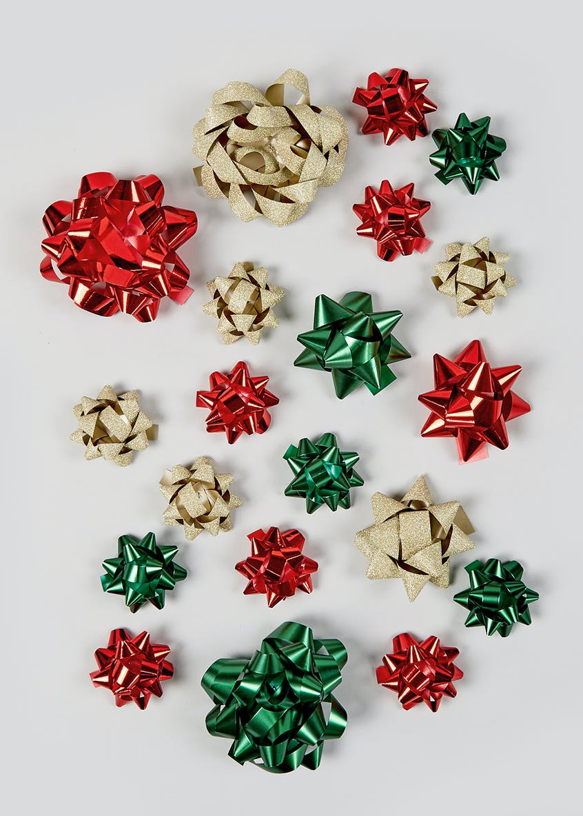 Assorted Bumper Pack Christmas Gift Bows