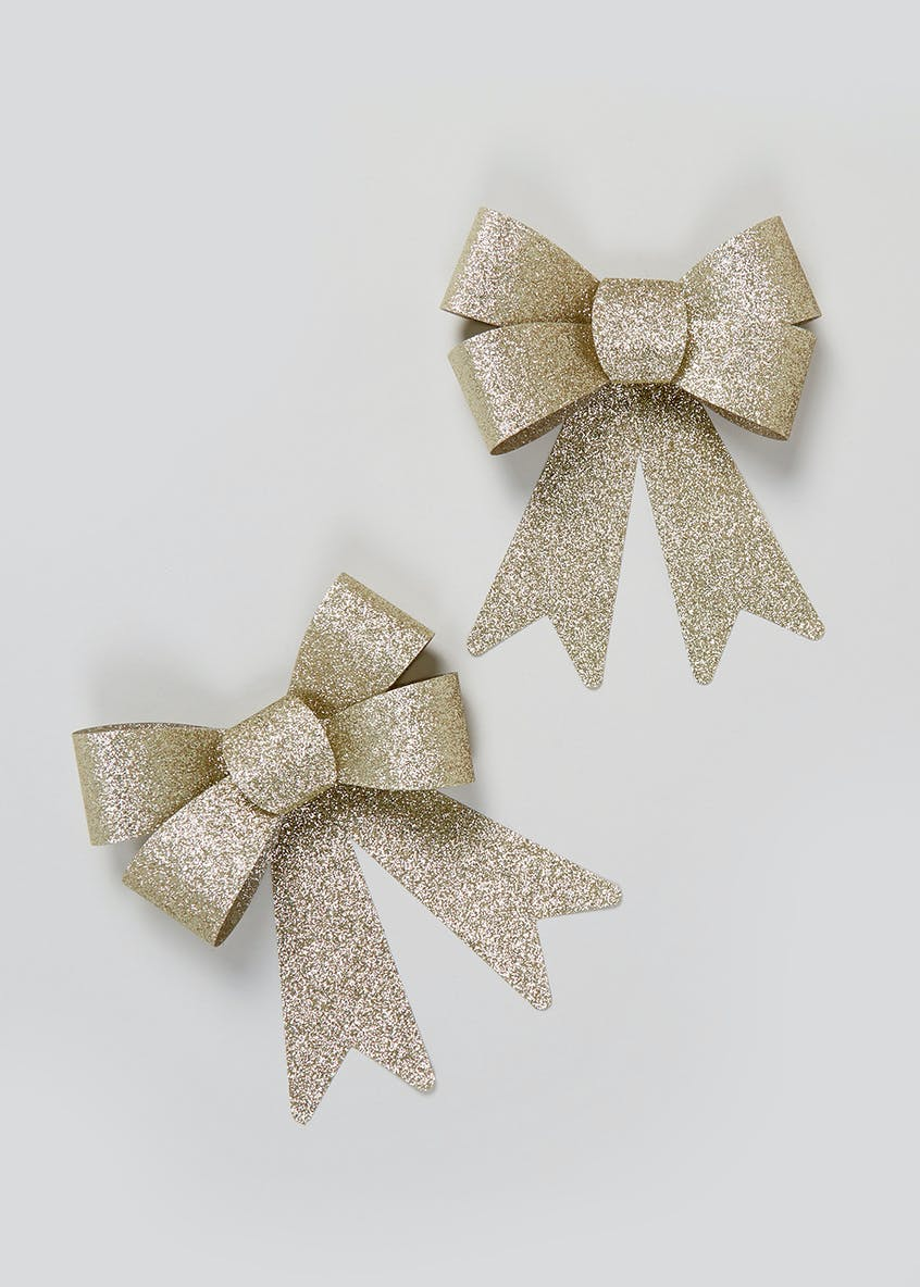 2 Pack Christmas Bows