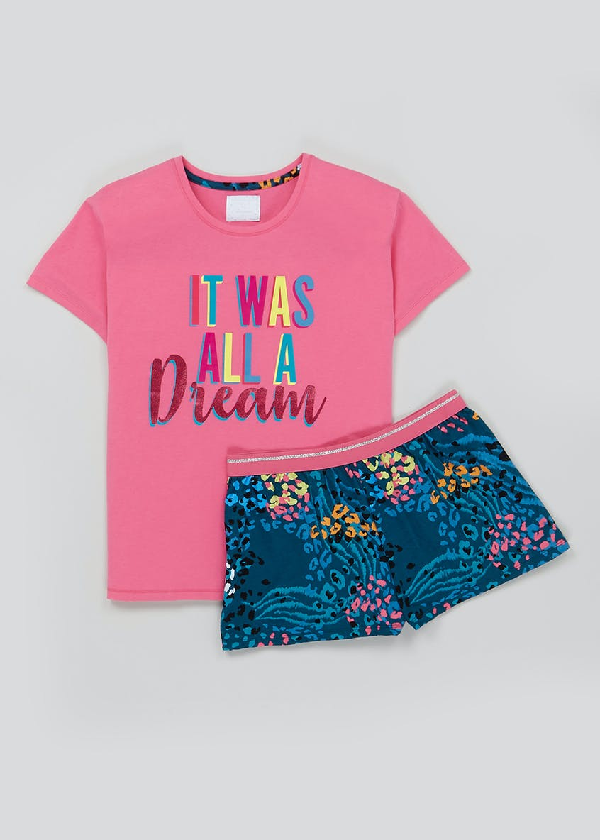 Dream Slogan Short Pyjama Set