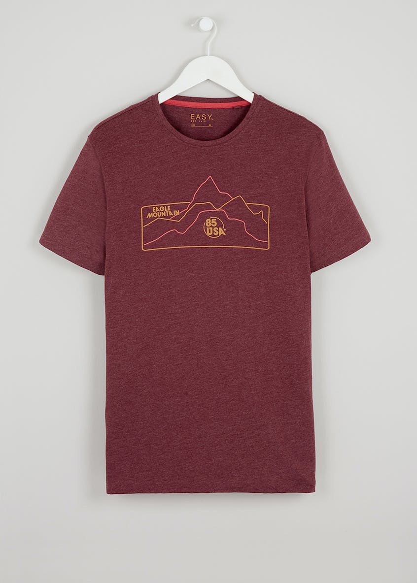 Mountain Outline Print T-Shirt