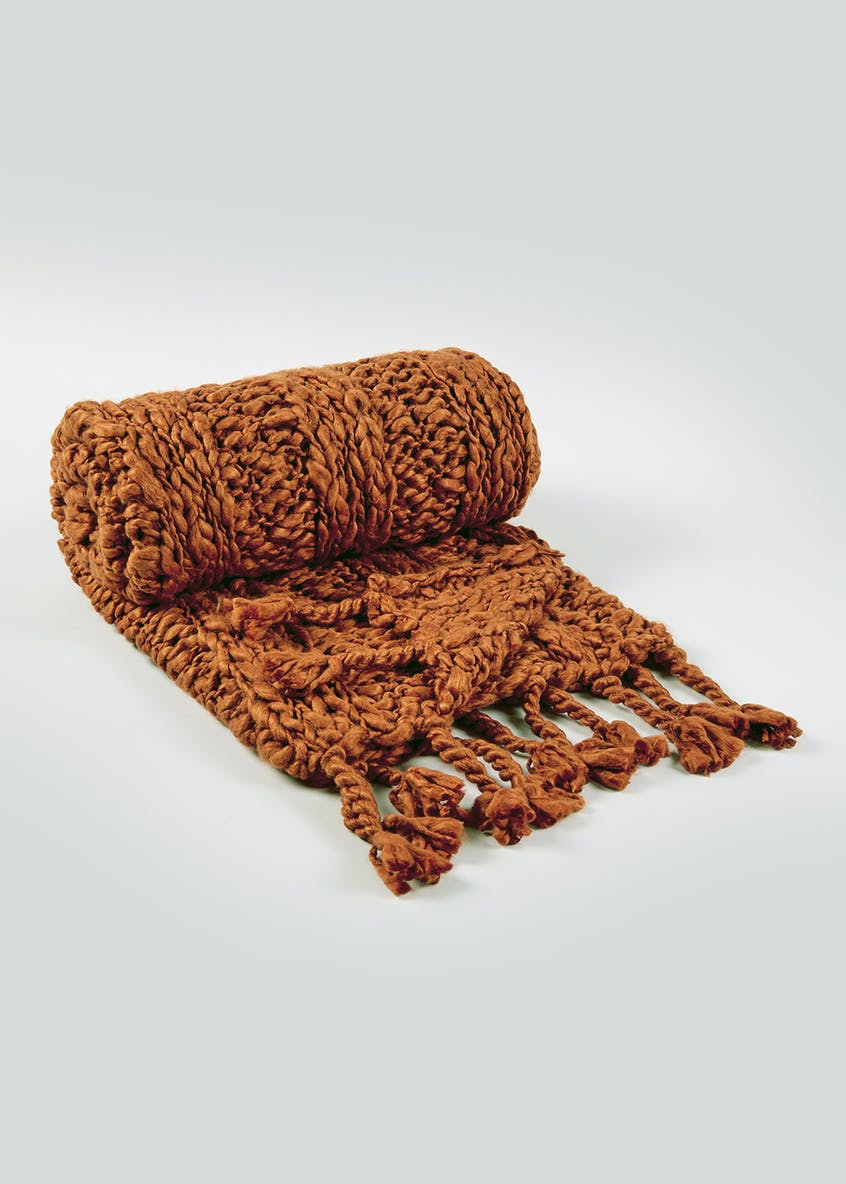 Hand Knitted Throw (150cm x 130cm)