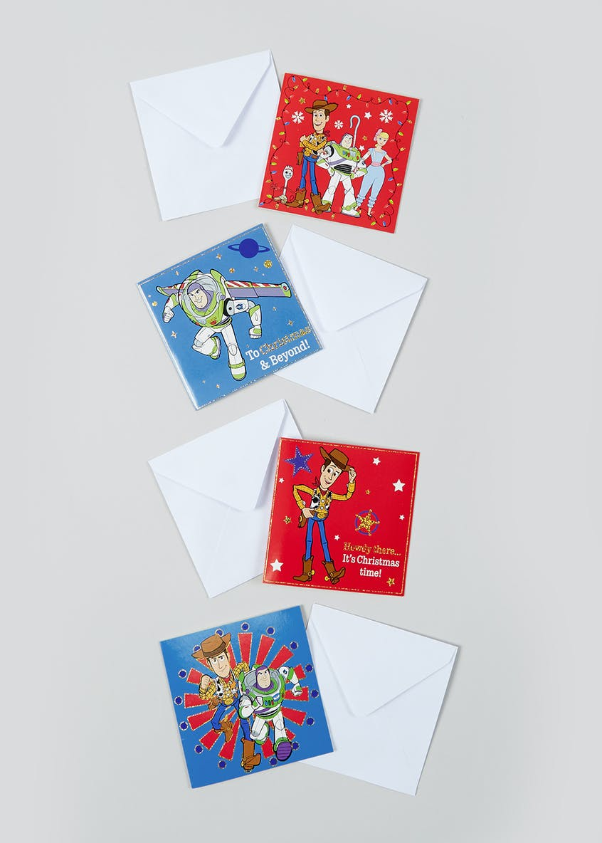 20 Pack Toy Story Christmas Cards (9.5cm x9.5cm)