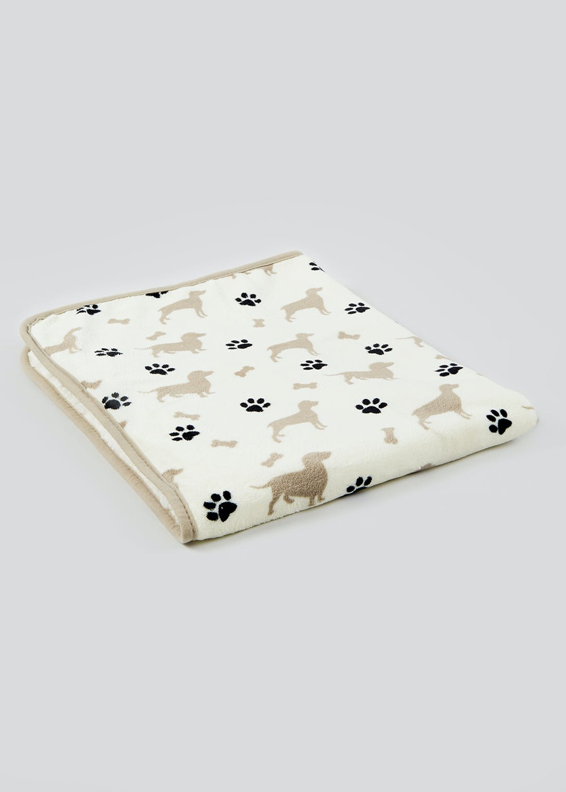 Dog Print Fleece Throw Blanket (120cm x 80cm)