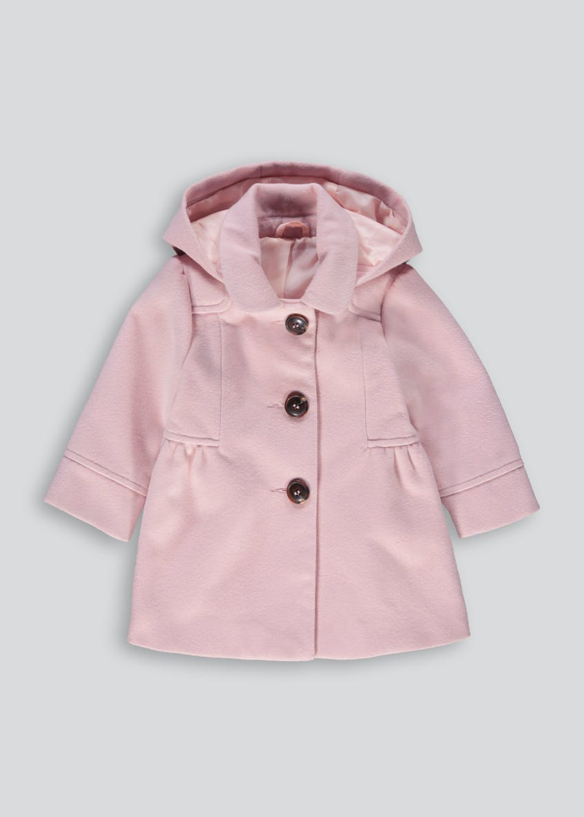 Girls Pink Hooded Smart Coat (9mths-6yrs)