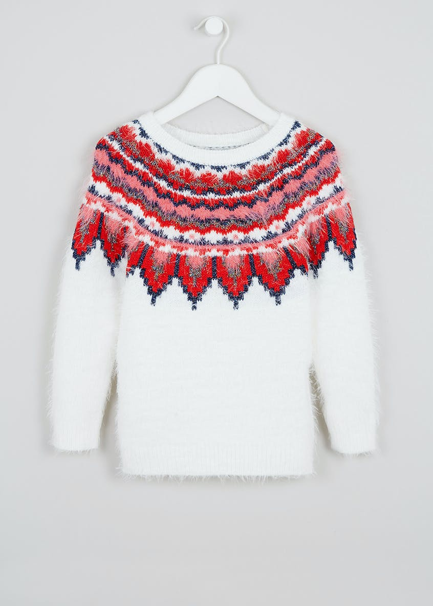 Girls Fair Isle Jumper (4-13yrs)