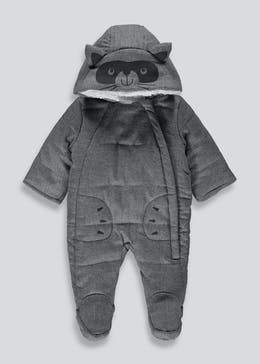 Unisex Grey Racoon Snowsuit (Tiny Baby-18mths)
