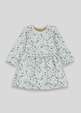 Girls Unicorn Jersey Dress (9mths-6yrs)