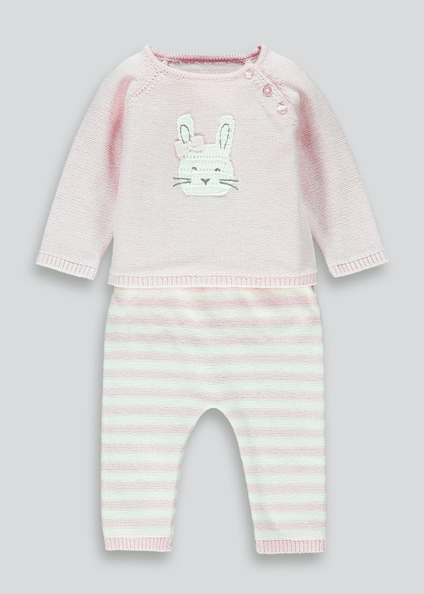 Girls Pink Bunny Set (Tiny Baby-18mths)