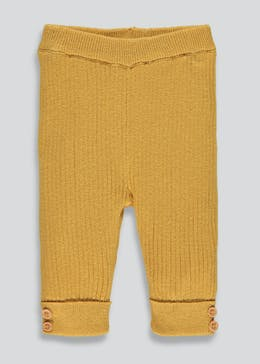 Unisex Knit Rib Leggings (Tiny Baby-18mths)